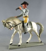 Starlux - Confederates - Regular Series - Mounted Officer telescope white horse (ref CS1) 2
