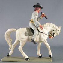 Starlux - Confederates - Regular Series - Mounted Officer telescope white horse (ref CS1)
