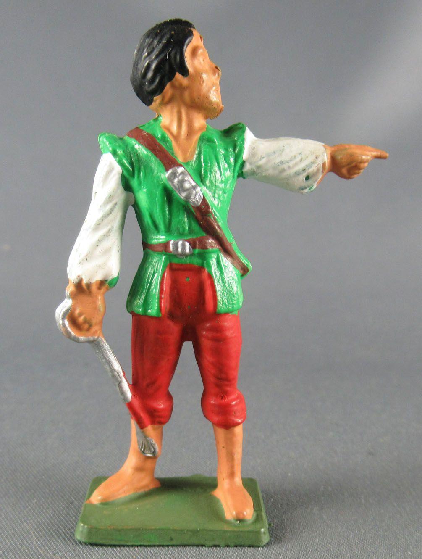 Starlux - Corsaires Série 78 - réf F1 - Chef ( chemise blanche gilet vert pantalon rouge)