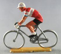Starlux - Coureurs Cyclistes - Série 1959 - Rouleur (rouge & blanc) (Réf 291)