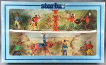Starlux - Cow-Boys & Indiens - Coffret 2 Étages 9 Pièces Série Luxe Neuf Boite