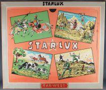 Starlux - Cow-Boys & Indiens - Coffret 3 Étages 16 Pièces