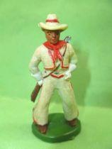 Starlux - Cow-Boys - Série 46 - Piéton Fusil en bandouilliere (blanc) (réf CB4)