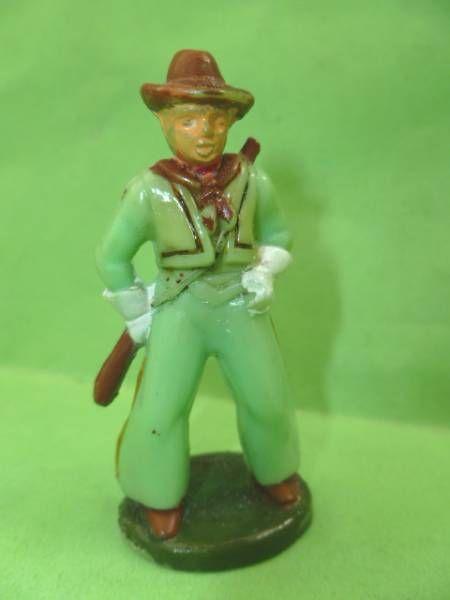 Starlux - Cow-Boys - Série 46 - Piéton Fusil en bandouilliere (vert) (réf CB4)