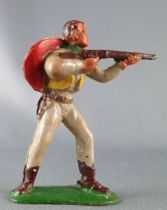 Starlux - Cow-Boys - Série 53 - Piéton Tireur fusil debout (gris) (réf 121)