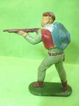 Starlux - Cow-Boys - Série 53 - Piéton Tireur fusil debout (gris vert) (réf 121)
