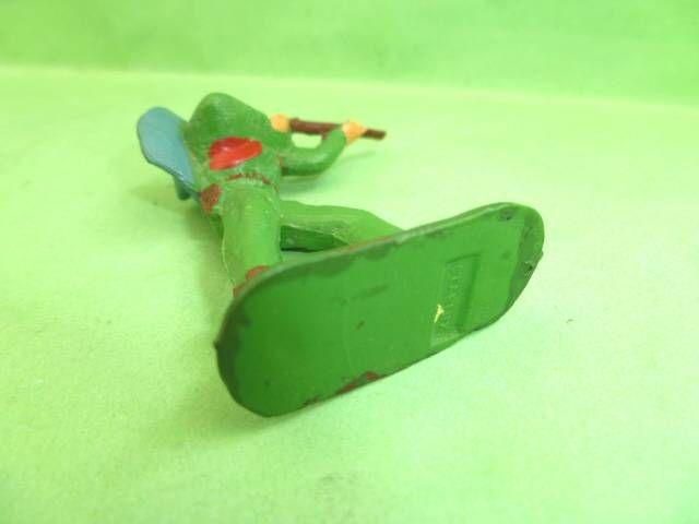 Starlux - Cow-Boys - Série 53 - Piéton Tireur fusil debout (vert) (réf 121)