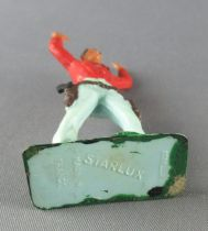 Starlux - Cow-Boys - Série 57 Ordinaire - Piéton Bras levés (rouge & bleu) (réf 126)