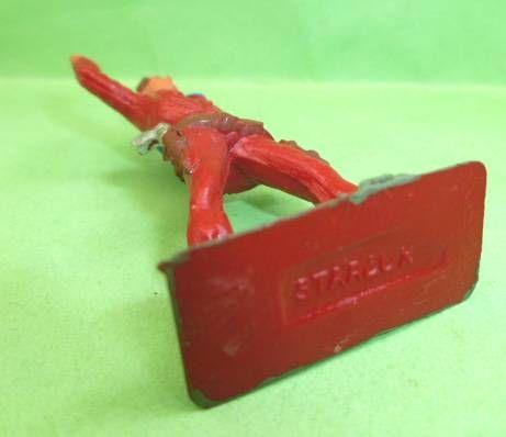 Starlux - Cow-Boys - Série 57 Ordinaire - Piéton Bras levés (rouge) (réf 126)