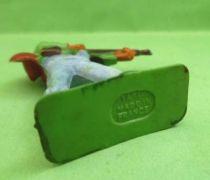 Starlux - Cow-Boys - Série 57 Ordinaire - Piéton Shériff fusil hanche (vert & bleu ciel) (réf 125)