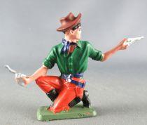 Starlux - Cow-Boys - Série 64 Luxe Spéciale - Piéton Tireur 2 pistolets à  genoux (vert & rouge) (réf 5122)