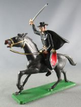 Starlux - Cow-Boys - Série 66 Luxe - Cavalier Noir Zorro cheval noir (réf 4419)
