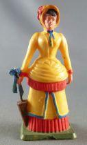 Starlux - Cow-Boys - Série 69 Femmes du Far-West - Femme du sherif (jaune) (réf 5162)