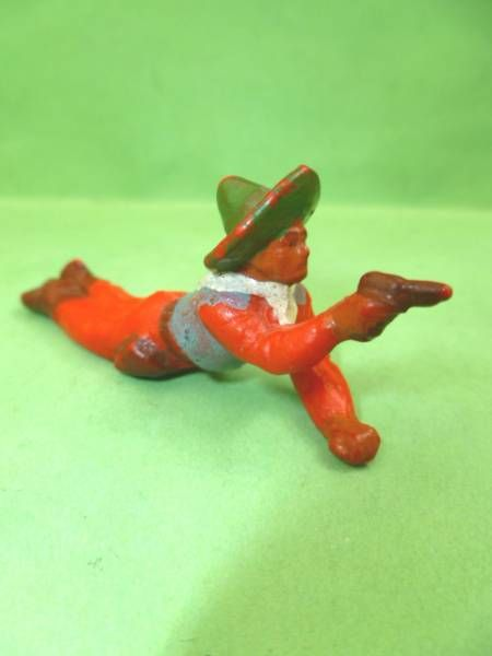 Starlux - Cow-Boys - Series 53 - Footed Firing pistol laying (red) (réf 126)