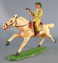 Starlux - Cow-Boys - Series 53 - Mounted Firing gun on front (yellow) white galloping horse (ref 415)