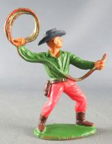 Starlux - Cow-Boys - Series 55/56 (Luxe) - Footed Lasso (green & red) (réf C 2128)