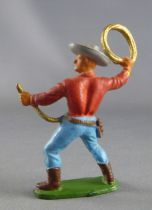 Starlux - Cow-Boys - Series 55/56 (Luxe) - Footed Lasso (red & blue) (réf C 2128)