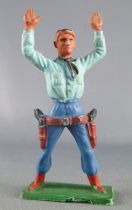 Starlux - Cow-Boys - Series 57 (Regular) - Footed Both hands up (blue & blue) (ref 126)