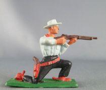 Starlux - Cow-Boys - Series 57 (Regular) - Footed Kneeling firing rifle(blue & black) (ref 122)