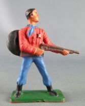 Starlux - Cow-Boys - Series 57 (Regular) - Footed Sheriff rifle on hip (red & blue) (ref 125)
