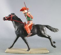 Starlux - Cow-Boys - Series 63 (Luxe) - Mounted Sheriff (orange é green) black galloping horse (ref 4411)