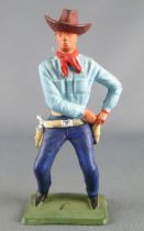 Starlux - Cow-Boys - Series 64 (Luxe Speciale) - Footed Drawing 1 gun (blue & blue) (ref 5124)