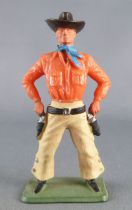 Starlux - Cow-Boys - Series 64 (Luxe Speciale) - Footed Drawing 2 guns (orange & yellow) (ref 5127)