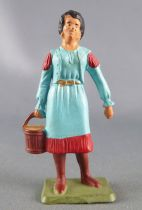 Starlux - Cow-Boys - Series 69 - Footed woman with bucket (blue) (ref 5160 / )