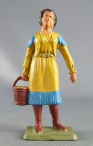 Starlux - Cow-Boys - Series 69 - Footed woman with bucket (yellow) (ref 5160 / )
