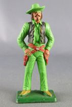 Starlux - Cow-Boys - Series 77 (regular) - Footed Hands on guns (green) (ref 127)