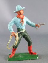 Starlux - Cow-Boys - Series 77 (regular) - Footed Lasso (blue & green) (ref 123)