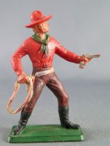 Starlux - Cow-Boys - Series 77 (regular) - Footed Lasso (red & brown) (ref 123)