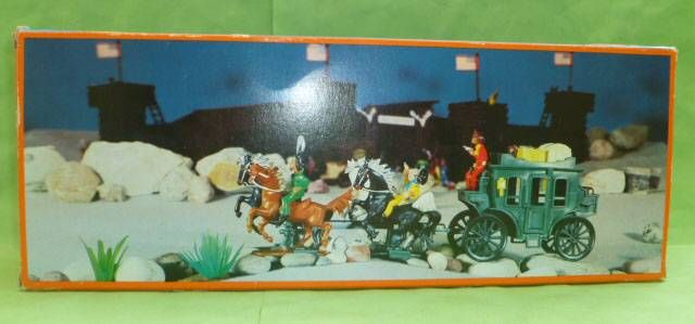 Starlux - Cow-Boys - Wild West Stage Coach (Mint in Jean Box)