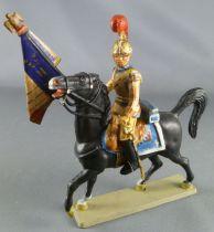 Starlux - Empire - Carabiniers Cavalier - Officier Porte-Drapeau 1810-1815 Patiné (réf 8158/FH60532)