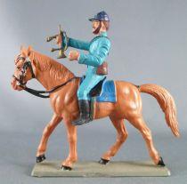 Starlux - Federates - Series regular - Mounted Bugler looking front grey horse (ref CN6)