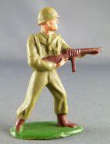 Starlux - French Infantry - Type 3 - Fighting Tomy gun Standing Brown Leggins (réf 3)