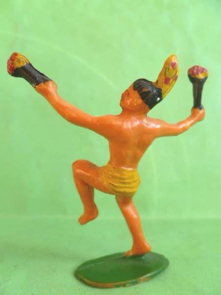 Starlux - Incas Série 53 - Piéton Danseur torche (jaune - plumes jaunes) (réf 190)