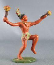 Starlux - Incas Série 53 - Piéton Danseur torche (vert - plumes vertes) (réf 190) 1