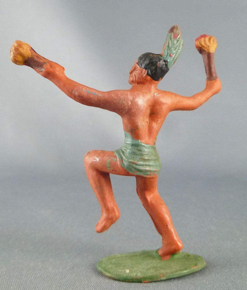 Starlux - Incas Série 53 - Piéton Danseur torche (vert - plumes vertes) (réf 190) 2