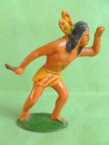 Starlux - Incas Série 53 - Piéton Guetteur poignard (jaune - plumes jaunes) (réf 189)