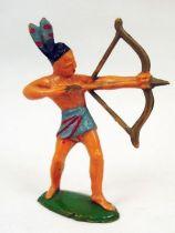 Starlux - Incas Série 53 - Piéton Tireur Arc debout (plumes grise et rouge) (réf 183)