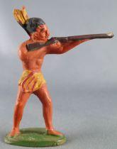 Starlux - Incas Série 53 - Piéton Tireur Fusil debout (jaune plumes jaunes) (réf 181)