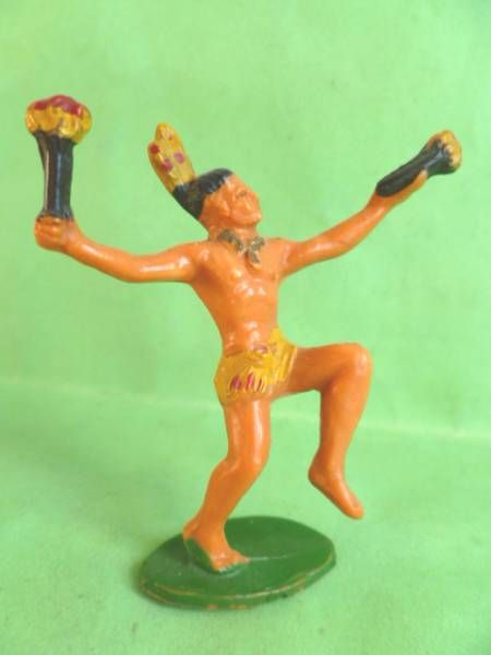 Starlux - Incas Series 53 - Footed Dancing with torch (yellow - yellow feathers) (ref 190)