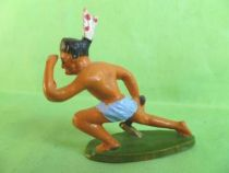 Starlux - Incas Series 53 - Footed Watcher kneeling (blue - white feathers) (ref 191)