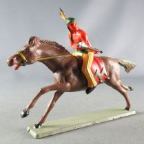 Starlux - Indians - Series Luxe 63 - Mounted Rifle on side (yellow) brown galloping horse (ref 4425)