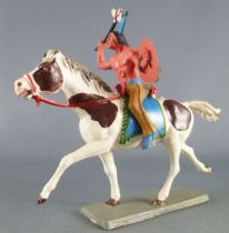 Starlux - Indians - Series Luxe 63 - Mounted Tomahawk (yellow) white galoping horse (ref 4428)