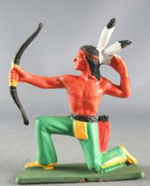 Starlux - Indians - Series Luxe Speciale 68 - Footed Firing Bow kneeling red quiver (ref 5152)