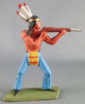 Starlux - Indians - Series Luxe Speciale 68 - Footed Firing rifle standing (ref 5153)