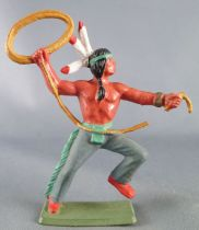 Starlux - Indians - Series Luxe Speciale 68 - Footed Lasso (green base) (ref 5148)