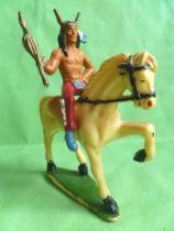 Starlux - Indians - Series Regular 53 - Mounted Chief white walking horse (ref 435)